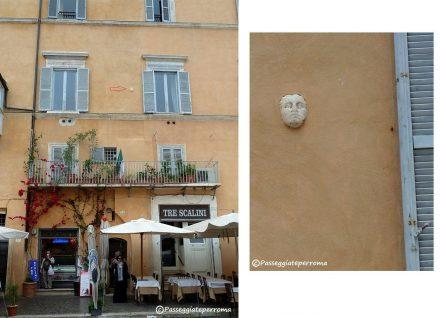 Testa di marmo a Piazza Navona